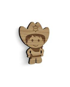Cowboy knage, knager til børn, knager til børneværelset, knager træ, børneknage