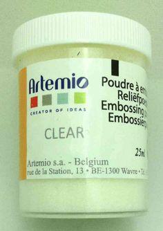 Tinta en polvo embossing Transparente de Artemio - Dekogarden
