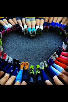 My Niece's Soccer Team Shot - Cool Heart Photography that is easy to do!
