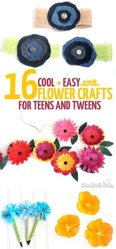 Crafts for teens Spring is in the air! Make these beautiful flower crafts for teens and tweens - they're beautiful, easy, and fun!Spring is in the air! Make these beautiful flower crafts for teens and tweens - they're beautiful, easy, and fun! Arts And Crafts For Adults, Arts And Crafts For Teens, Easy Arts And Crafts, Fall Crafts For Kids, Arts And Crafts Projects, Easy Diy Crafts, Toddler Crafts, Diy For Teens, Creative Crafts