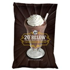 Big Train 20 Below Frozen Hot Chocolate  Frappe Mix - Prepare your taste buds for a chocolate avalanche of creamy and luxurious taste with Big Train's 20° Below® sinfully decadent Frozen Hot Chocolate. It's Kosher Certified, coffee-free, easy to make and can be served hot or blended. Amazing chocolate ecstasy awaits.