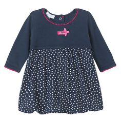 7608faddc Absorba Childrens Designer Clothes - Baby Dress, Navy Blue - Dandy Lions  Boutique