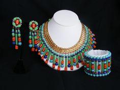 MIRIAM HASKELL EGYPTIAN REVIVAL FULL PARURE SET