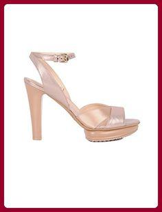 Angkorly Damen Schuhe Sabot Slip On Pelz Nieten besetzt String Tanga Blockabsatz high Heel 5 cm