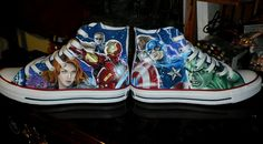 I finally completed my Avengers converse. The Avengers Converse Cool Converse, Outfits With Converse, Converse All Star, Converse Shoes, Converse Outlet, Custom Converse, Men's Shoes, Marvel Shoes, Marvel Clothes