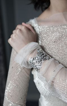 """Isabella"" Swarovski Cuff from Enchanted Atelier by Liv Hart. Photo by Laurie Bracewell/ Model Danielle Fillmore"
