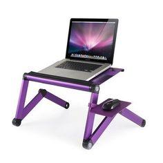 Furinno Ergonomics Adjustable Laptop Cart Color: Purple