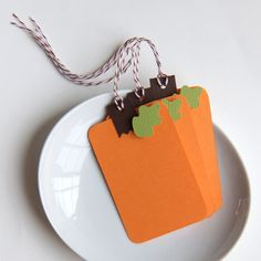 6 Pumpkin Tags or Package Labels by scrapbits on Etsy