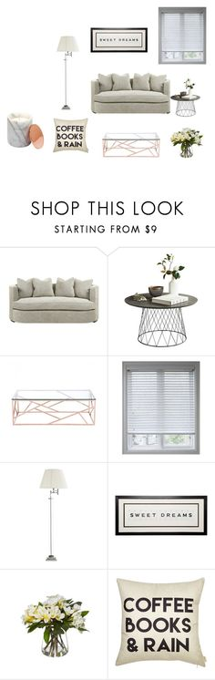 """""""Living"""" by apopovitch ❤ liked on Polyvore featuring interior, interiors, interior design, home, home decor, interior decorating, Zuo, Arlo Blinds and Eichholtz"""