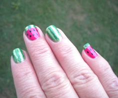 Water melons on nails :-D