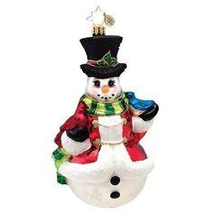 Christopher Radko Winter's Trill Christmas Ornament
