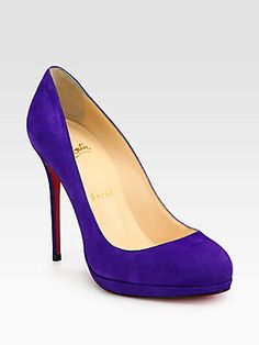 Christian Louboutin Filo Suede Platform Pumps  -- i'm fighting the urge to press the button!