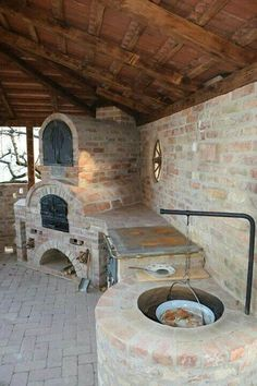 33 Most Popular Outdoor Kitchen Ideas Design Make Your Own .- 33 Most Popular Outdoor Kitchen Ideas Design Make Your Sugest Crazy Source by ednballance - Pit Bbq, Barbecue Grill, Bbq Bar, Bar Grill, Backyard Kitchen, Outdoor Kitchen Design, Backyard Patio, Rustic Outdoor Kitchens, Bbq Kitchen