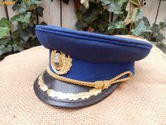Cascheta parada de ofiter de securitate / Romanian Securitate officers' parade dress uniform visor cap.