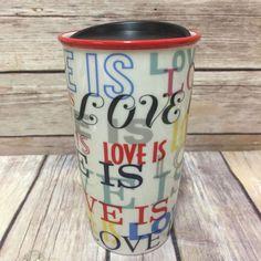 Starbucks Love Is Double Wall Tumbler Coffee Mug 2017 Coffee Mug  #Starbucks