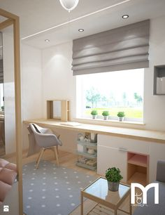 Projekt domu jednorodzinnego z pastelowymi kolorami - Pokój dziecka, styl nowoczesny - zdjęcie od Mart-Design Architektura Wnętrz