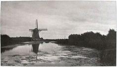 Die Kunst in der Photographie : 1901 Photographer: G. van Dyk Title: Poldermühle