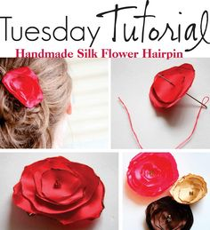 DIY Handmade Silk Flower Hairpin/Headband/Pin tutorial!