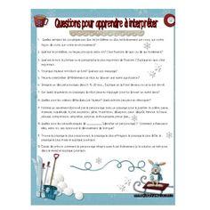 Réagir, apprécier et interpréter un texte. France, Questions, Catalog, Boutique, Education, Products, Reading Strategies, Fle, Posters