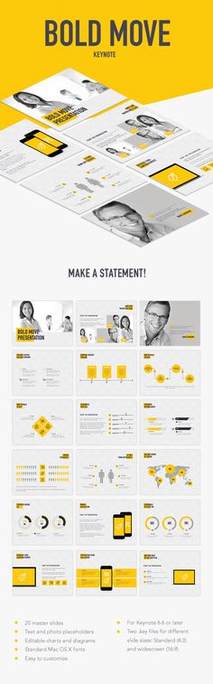 Bold Move Keynote Template #design #slides Download: http://graphicriver.net/item/bold-move-keynote-template/13745410?ref=ksioks