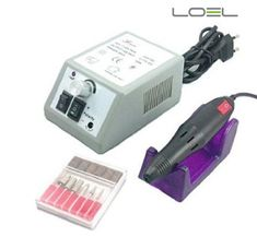 Loel Professional Electric Nail Art Salon Drill Glazing Fast Machine Manicure Pedicure Kit Grey Gel Salon Art Tool Polish for Gels Acrylics Natural Nails Turbo Nail Filing System Control Box for Easy Speed Adjustment Bits Fit Vogue Dremel Kupa *** You can get more details by clicking on the image.Note:It is affiliate link to Amazon. #likeforlike