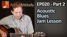 Acoustic Blues Guitar Lesson - Acoustic Solo Part 2 (of 3) - EP020