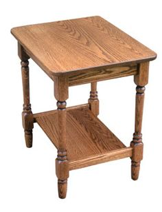 Amish Outlet Store : Country End Table in Oak
