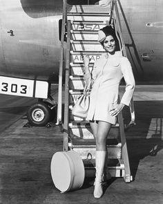 PSA 1960s stewardess