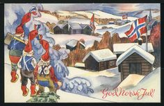 Get Into the Spirit of Christmas with Old Norwegian Christmas Cards