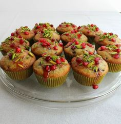 Food Lust People Love: Pomegranate and Pistachio Muffins with Pomegranate Glaze #MuffinMonday #Gluten-free