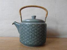 Quistgaard - AZUR BLUE - big teapot - Kronjyden - 1960s - midcentury