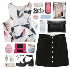 """""""SheIn 6"""" by novalikarida ❤ liked on Polyvore featuring String, Casetify, Le Creuset, Nintendo, Crate and Barrel, Zara Home, Casio and Topshop"""