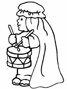Little Drummer Boy color page - Religious Christmas color page. Religious coloring pages. Coloring pages for kids. Thousands of free printable coloring pages for kids! Angel Coloring Pages, Bible Coloring Pages, Coloring Pages For Boys, Printable Coloring Pages, Coloring Books, Kids Christmas Coloring Pages, The Little Drummer Boy, Boy Coloring, Bible Story Crafts