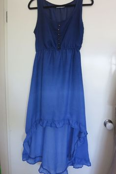 Rivers Dress Size 10 High Low Hem Blue