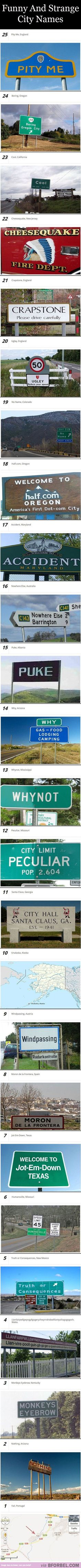 I've been to #4 :)  25 Funny And Strange City Names…