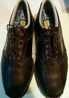 Footjoy Dryjoys Golf Shoes 9.5 M NICE Chestnut Brown Lizard Print/ Chocolate Brn