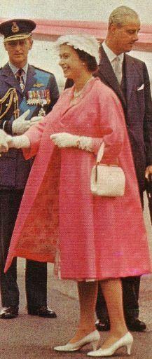 The Queen wearing a duster coat