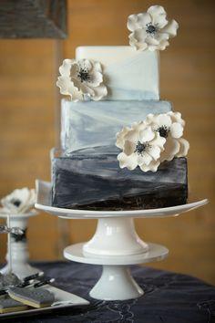 2nd Floor Events- 50 Shades of Grey Wedding Cakes Photos on WeddingWire