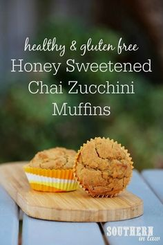 These Healthy Honey These Healthy Honey Chai Zucchini Muffins are the perfect healthy but oh so delicious muffin recipe. With a hidden serve of veggies, this is a gluten free dessert or healthy snack that is nut free, dairy free, low fat, low sugar, refined sugar free and a clean eating recipe! Quick and easy to make and freezer friendly - making it the perfect make ahead meal prep recipe!