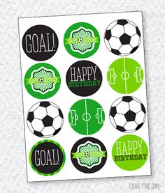 healthy breakfast ideas for kids age 9 to make 3 12 11 Soccer Birthday Parties, Birthday Party Desserts, Football Birthday, Soccer Party, Boy Birthday, Golf Party, Free Printable Birthday Invitations, Party Printables, Free Printables