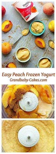 Easy Peach Frozen Yogurt   Grandbaby Cakes