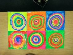 Kandinsky's Concentric Circles by Joanna Davis-Lanum at PreK + K Sharing