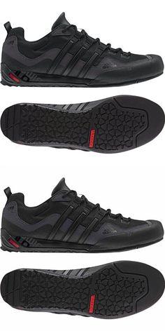 7761b8d77ada5a Adidas Outdoor Terrex Swift Solo Approach Shoe - Men s Black Black Lead 11