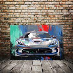 Viper SRT Painting Classic Sports Car Dodge Viper Art Print | Etsy