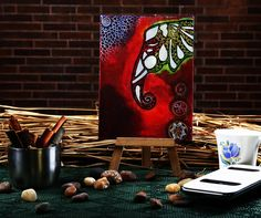 Funky mini easel elephant classic canvas #painting for #homedecoration at #craftshopsindia  #canvaspainting