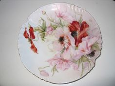 Antique Limoges France Hand Painted Floral Plate 1898 | eBay