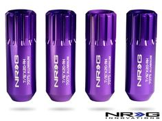 "Amazon.com: NRG 7/16"" x 20-RH Extended Lock Lug Nut - 400 Series - 4 Piece Kit (4 Lug Nuts) - Purple - Part # LN-L473PP: Automotive"