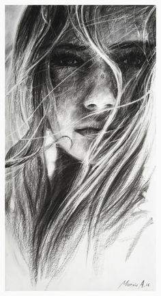 Supreme Portrait Drawing with Charcoal Ideas. Prodigious Portrait Drawing with Charcoal Ideas. Pencil Portrait, Pencil Art, Art Painting, Art Charcoals, Art Drawings, Art, Charcoal Drawing, Portrait Art, Portrait Girl