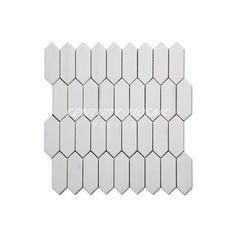 Long Hexagon Dolomite Marble Mosaic Tile