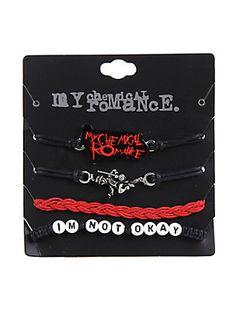 My Chemical Romance Cord Bracelet Set,